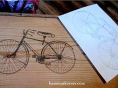 Kammy's Korner: Bicycle Bench {Freezer Paper Transfer}