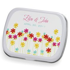Personalized floral mint tin for wedding favor