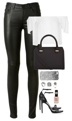 """Untitled #2000"" by h4nnahlouise ❤ liked on Polyvore featuring Yves Saint Laurent, Topshop, Bottega Veneta, Victoria Beckham, Michael Kors and Fendi"