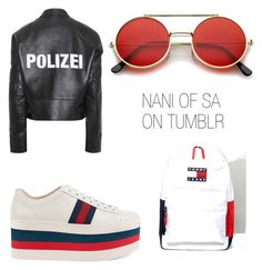 A fashion look from May 2017 featuring real leather jackets, laced up shoes and america jersey. Browse and shop related looks. Lace Up Shoes, Real Leather, Tommy Hilfiger, Fashion Looks, Gucci, Leather Jacket, Trends, Polyvore, Shopping