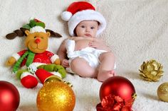 Baby Christmas Photos, Xmas Photos, Babies First Christmas, Kids Christmas, Monthly Baby Photos, Baby Boy Photos, Cute Baby Pictures, Indian Baby Showers, Foto Baby