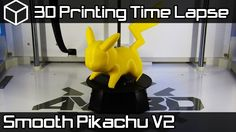 3D Printing Time Lapse | Pikachu V2 Pokemon Sun and Moon | Airwolf 3D Ax...
