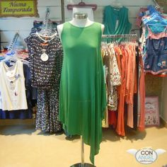 Vestido largo de punto Celebrities color verde menta