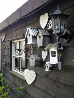 Are you looking garden shed plans? I have here few tips and suggestions on how to create the perfect garden shed plans for you. Bird Houses Painted, Painted Birdhouses, Decorative Bird Houses, Bird Boxes, Shed Plans, Yard Art, Garden Projects, Garden Inspiration, Bird Feeders
