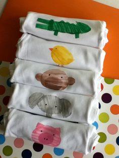 Gift Set of 5 Potato Print Onesies 3 to 6 months by kiniandkai