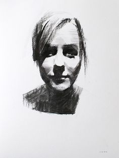 Charcoal Portrait Studies by Mike Creighton