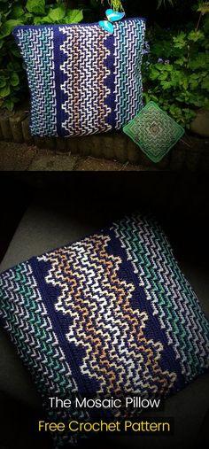The Mosaic Pillow Free Crochet Pattern #crochet #crafts #homedecor #pillow #idea #style #handmade