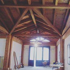 Copertura vista dall'interno! #wooden #wood #lamellare #legno #casa