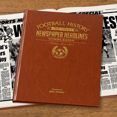 This Personalised Wimbledon  History Book is the perfect gift for any fan of the club. The book kicks off with the earliest newspaper reports, covering their most memorable games and star players, leading right up until last season. See below for why the History of Wimbledon  FC Book is the ultimate piece of memorabilia that will instantly become a treasured keepsake.