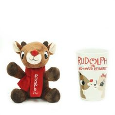Holiday Time Christmas Decor Rudolph The Red Nose Reindeer Rudolph In 16 Oz Latte Mug, Multicolor