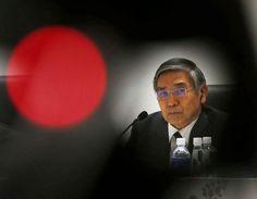 Haruhiko Kuroda: Guvernér japonské centrální banky. Dofunkce byl jmenován vroce 2013 premiérem Šinzóem Abem. Předtím byl pomnoho let prezidentem Asijské rozvojové banky.
