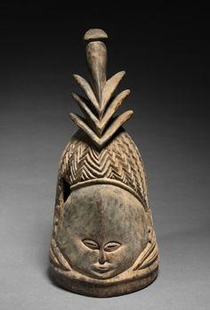 Helmet Mask, c. 1940      Guinea Coast, Sierra Leone, Mende , 20th century      wood, Overall - h:47.00 cm (h:18 1/2 inches).