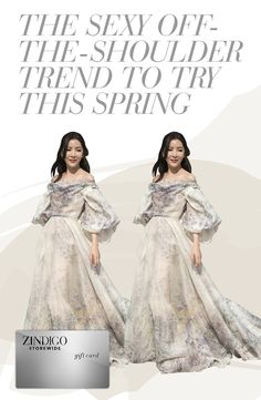 The hottest trend for the spring is this off the shoulder look. Show some skin and look sexy without overdoing it. Try that '70s ruffled look for 25% off a purchase using code OFFHOU8, valid 2/10-2/20. #zindigo #zindigodaily #offtheshoulder #70sstyle