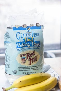 One to One gluten free flour. Love this stuff. The Best Ever Super Moist Gluten Free Banana Bread Cookies Sans Gluten, Dessert Sans Gluten, Gluten Free Sweets, Gluten Free Flour, Vegan Gluten Free, Gluten Free Recipes, Dairy Free, Best Gluten Free Banana Bread Recipe, Bob's Red Mill Bread Recipe