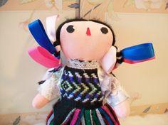 Ethnic Mexican Cloth Doll Handmade Folk Art by ALEXLITTLETHINGS