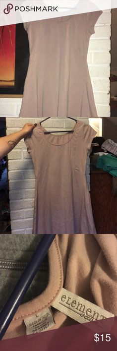 Pale pink short dress Only tried on once. Says large but fits like a medium. Light pink in person. Pictures don't show it too well. Element Dresses Mini