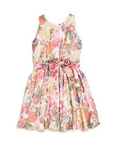 Helena and Harry - Toddler's, Little Girl's & Girl's Bright Challis-Print Dress