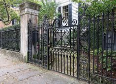 Wrought-iron fence and gate, Henry Laurens House,  7 Legare Street, Charleston, SC