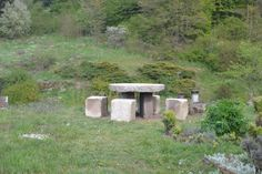 Table Alquerque de Doce en pierre du jardin
