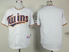 Look great and high quality of this Twins Blank White 2015 New Style Baseball Jersey, customize accepted