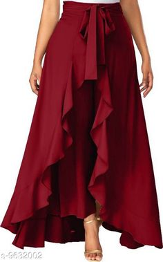 Checkout this latest Palazzos Product Name: *AALIYA FASHION Flared Women Maroon crepe palazzo* Fabric: Crepe Pattern: Self-Design Multipack: 1 Sizes:  28 (Waist Size: 28 in, Length Size: 38 in)  30, 32, 34, 36, Free Size Country of Origin: India Easy Returns Available In Case Of Any Issue   Catalog Rating: ★3.9 (240)  Catalog Name: Stylish Glamarous Women Palazzos CatalogID_1703808 C79-SC1039 Code: 073-9632002-309