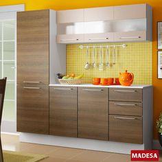 Foto 1 - Cozinha Completa Madesa Lara Branco/Rustic/Crema