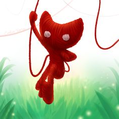 Yarny from Unravel by erudraws Playstation Games, Nintendo Games, More Games, Best Games, Dinosaur Videos, Castle Crashers, Video Game Posters, Fallen London, Skullgirls