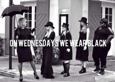 On Wednesday's, We Wear Black! #AmericanHorror #AHCoven #humpday
