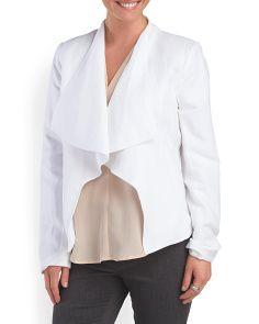 image of Linen Blend Cascade Jacket
