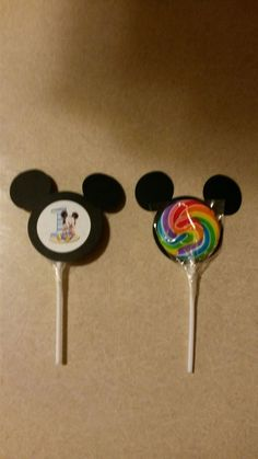 Baby Mickey Mouse's 1st Birthday - Lollipops Favors