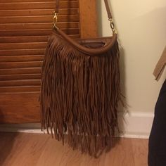 Fringe purse H&M brown leather fringe purse. H&M Bags Crossbody Bags