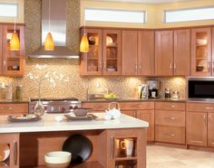 Quality cabinets quincy maple biscotti