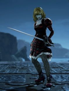 Monica from Vampires Vs. Dragons. Made using Creation mode in Soulcalibur 6. benjaminfrog.com #soulcalibur #custom #vampire Soul Calibur, My Character, Fantasy Characters, Vampires, Dragons, My Books, My Design, Fiction, Train Your Dragon