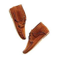 Minnetonka® Suede Ankle Boots...hmmmm, might have to buy these. (Extra 30% off!) So...around $24!