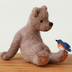 How cute is this?? Even a bellybutton! Felted wool.