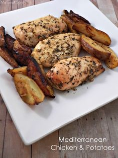 Mediterranean Chicken and Potatoes is the perfect meal for a family dinner or for feeding a crowd.