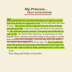 Pray with power!