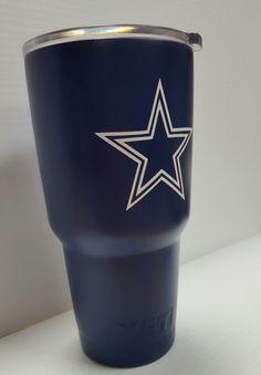 Dallas Cowboys YETI 30oz rambler by QuotesGaloreMore on Etsy