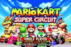 Mario Kart: Super Circuit GBA on the RetroN 5; HQ2X Filter, Scanliness OFF, Video Smoothing ON.
