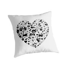 'Halloween Heart' Throw Pillow by Adrian Serghie Canvas Prints, Framed Prints, Art Prints, Duvet Covers, Throw Pillows, Halloween, Heart, Stuff To Buy, Art Impressions
