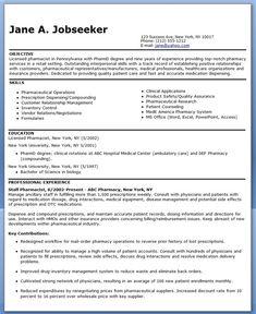 pharmacist resume sample - Underwriter Resume Sample