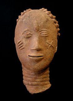 Akan Nsodia (Funerary Portrait Head), Ghana