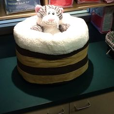 44.95 Deep cat bed (Stuffed cat not included)