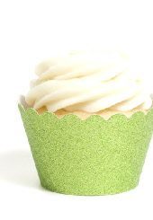 green cupcake wrappers #worldcup #party #soccer #birthday
