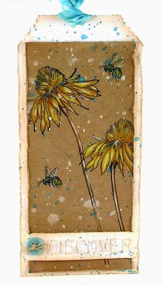 Suzz's Stamping Spot, Tim's April 2015 Tag, Stampers Anonymous, Tim Holtz, STAEDTLER