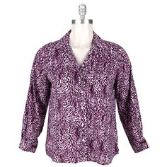 cadf1a35428 Foxcroft Plus Size Fitted Shirt with Abstract Animal Print  VonMaur   Foxcroft  PlusSize