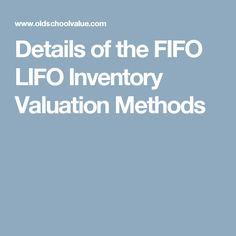 Fifo lifo inventory is another one in the OSV series called Aggressive and Conservative Accounting Series. This talks about the effects of inventory. Stock Investing, Investing In Stocks
