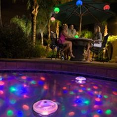 Underwater Projects Color LED Light Show at Bottom & Sides of Swimming Pool Spa Pool Spa, My Pool, Swimming Pool Lights, Swimming Pools, Jacuzzi, Above Ground Pool Lights, Disco Licht, Haha, Pool Care