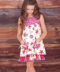 Take a look at this White Verbena Yoke Dress - Infant on zulily today!