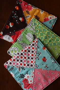 Quilted Potholders - easy use for scraps, especially batting
